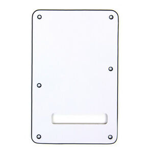 electric guitar backplate pickguard tremolo bridge cavity cover for st white 634458843652 ebay. Black Bedroom Furniture Sets. Home Design Ideas