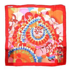 Nouveau 57x57cm Foulard En Rouge-coloré Cercles/points Chiffon Nickituch écharpe Bandana-afficher Le Titre D'origine