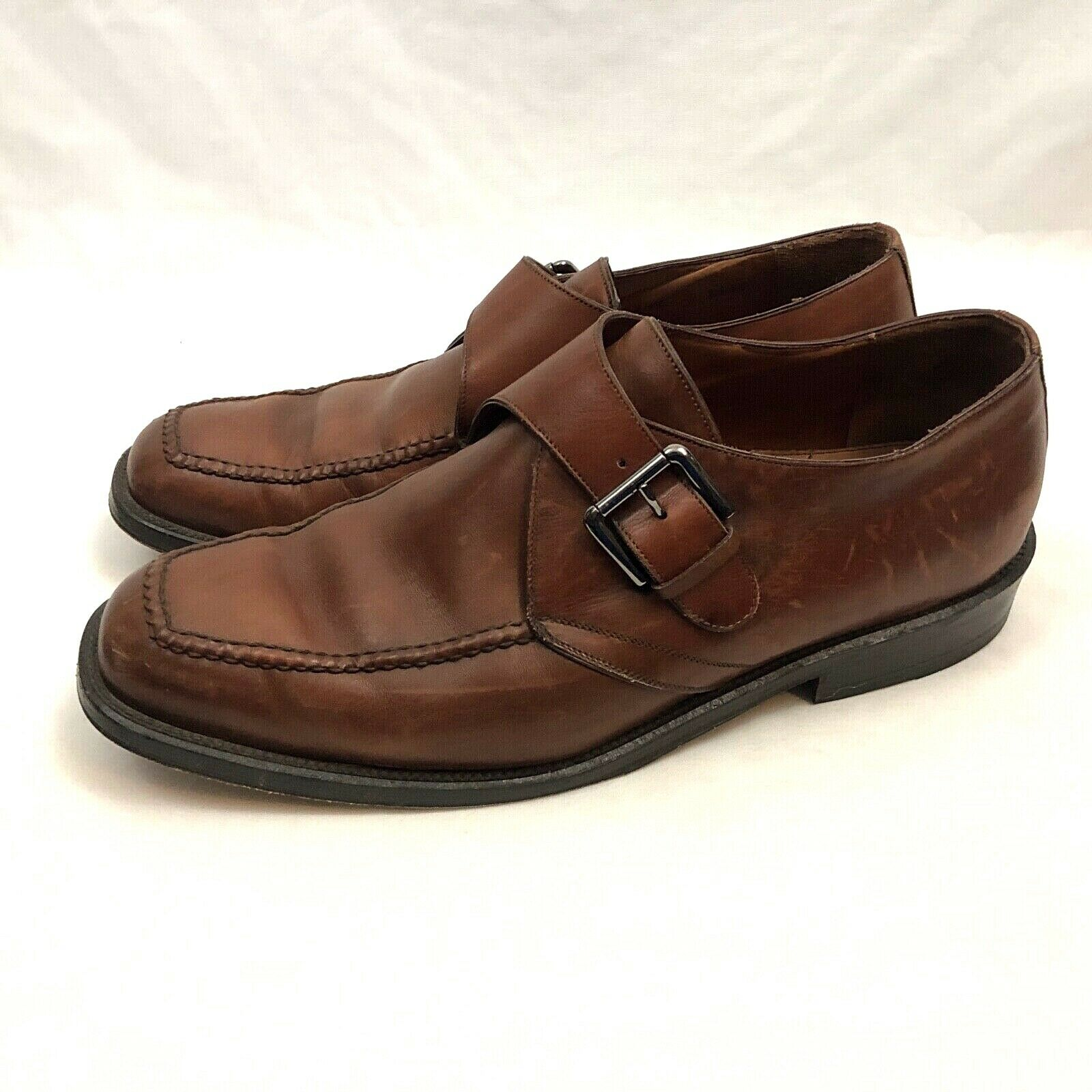 Cole Haan Buckle Dress shoes Mens US 11.5 Medium Brown Leather Slip On