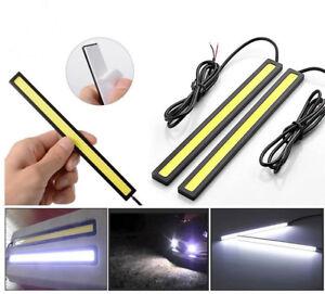Ultrathin Waterproof COB Car LED Lights White 12V for DRL Fog Light Driving Lamp