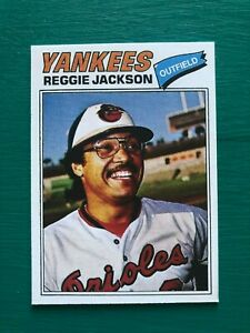 1977-Topps-REGGIE-JACKSON-Baltimore-Orioles-Yankees-Baseball-REPRINT-Proof-Card
