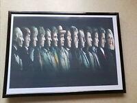 Doctor who all 14 doctors framed print sale
