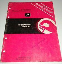 John Deere 1610 Series Mounted Chisel Plow Operators Manual Jd Original 378