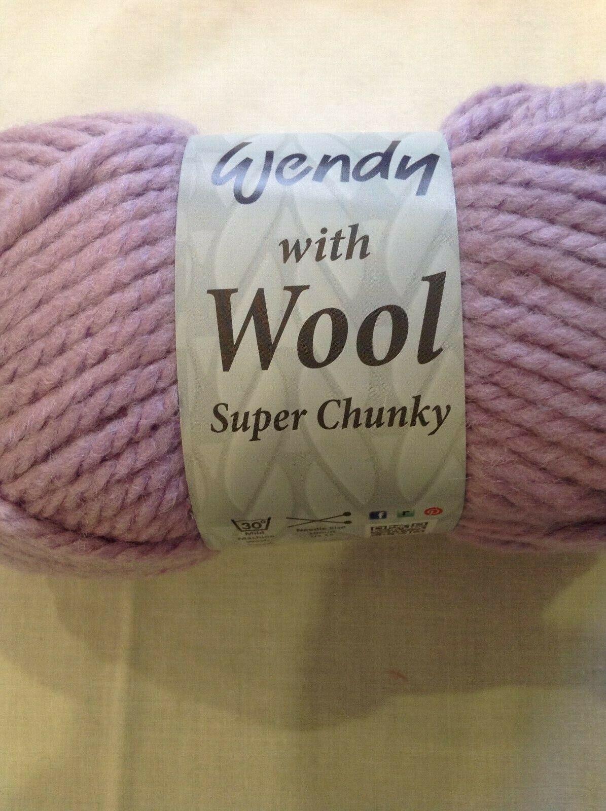 WENDY LOVE IT LATEST YARN FROM WENDY 5X100 GRAM BALLS Purple