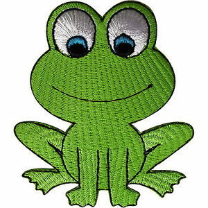 Frog-Patch-Embroidered-Iron-Sew-On-Clothes-Bag-Badge-Animal-Embroidery-Applique