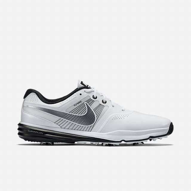 NIKE noir LUNAR COMMAND Golf chaussures homme WIDE WIDTH blanc noir NIKE 704428 102 130 NEW ce1161
