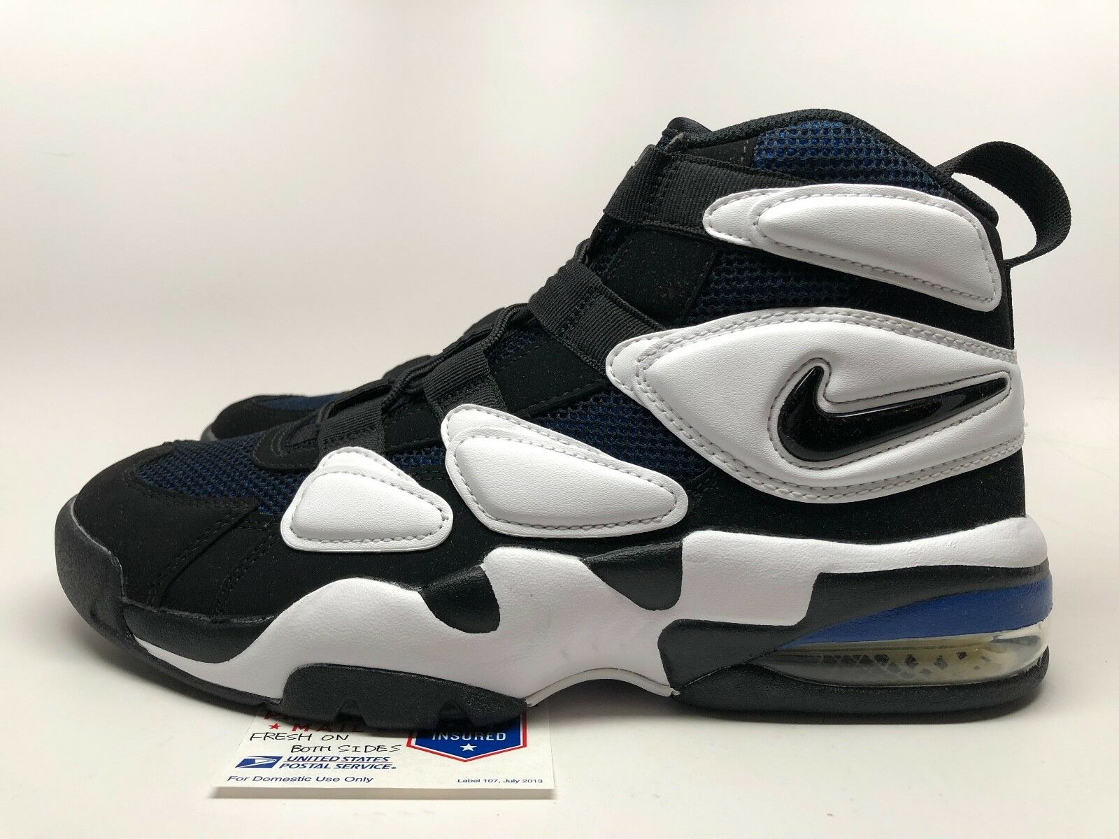 ecac49d32efe Nike Air Max2 Uptempo  94 Men Size 11 Black White Royal Blue 922934 ...