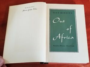 Out Of Africa First Edition By Isak Dinesen 1938 Denmark Author Ebay