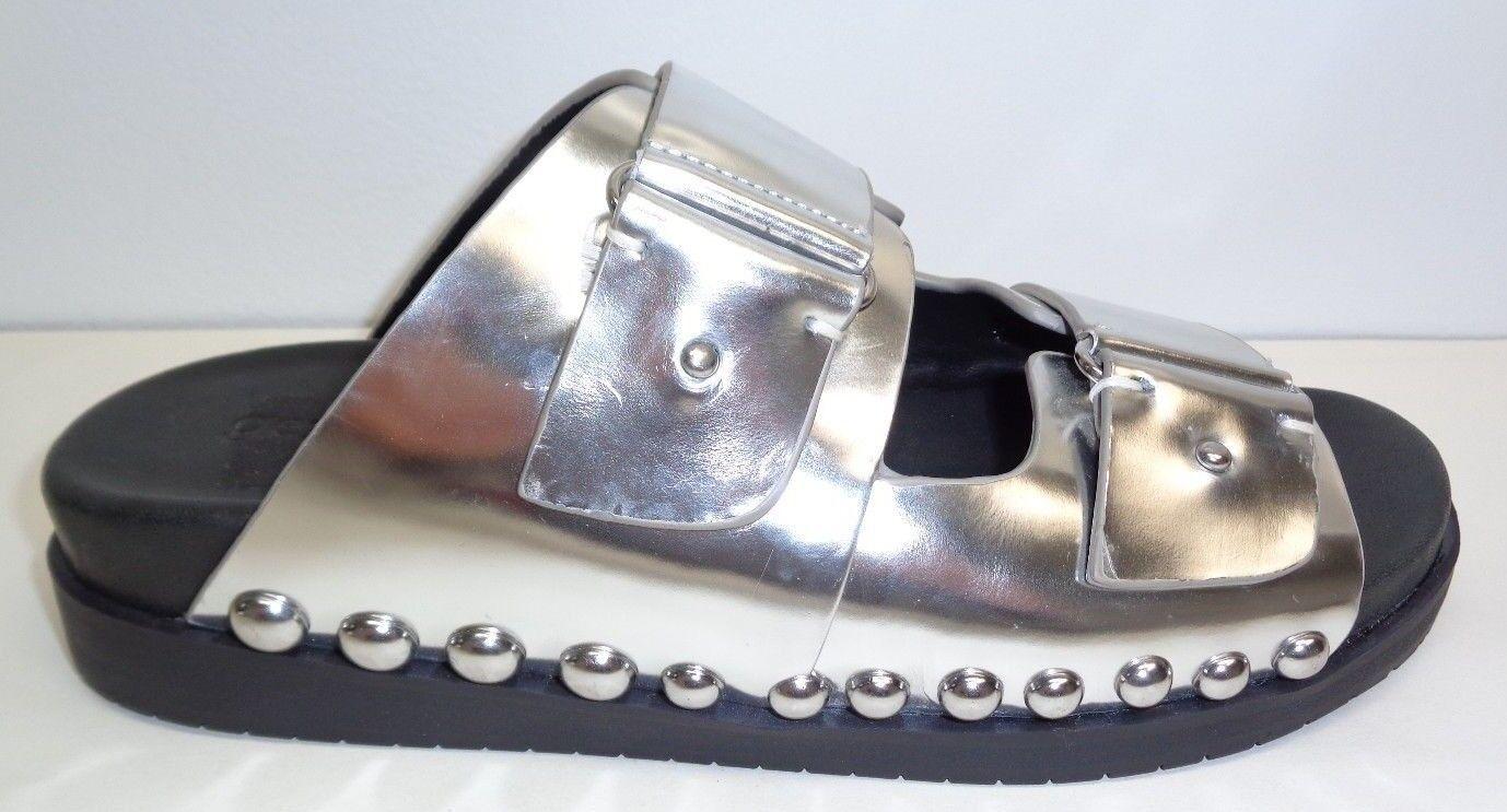 Gentle Souls Talla 6.5 M Skip Rock MB MB MB Nuevos Mujer Zapatos Sandalias De Cuero De Plata  garantizado