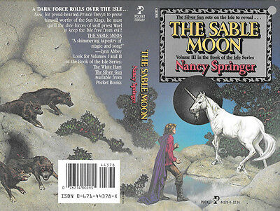 CARL LUNDGREN autographed this NANCY SPRINGER book cover THE SABLE MOON |  eBay