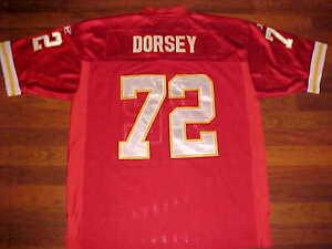 Kansas City Chiefs Glenn Dorsey #72 NFL AFC West Red White Yellow