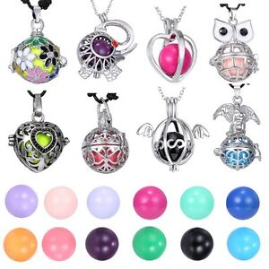 Women-Locket-Harmony-Ball-Cage-Silver-Pendant-Sounds-Chime-Pregnancy-Necklace