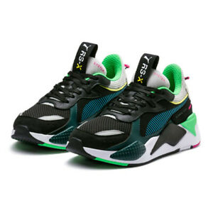 Details about PUMA RS-X Toys Sneakers Shoes - Black / Blue Atoll -  369449-01 / 36944901