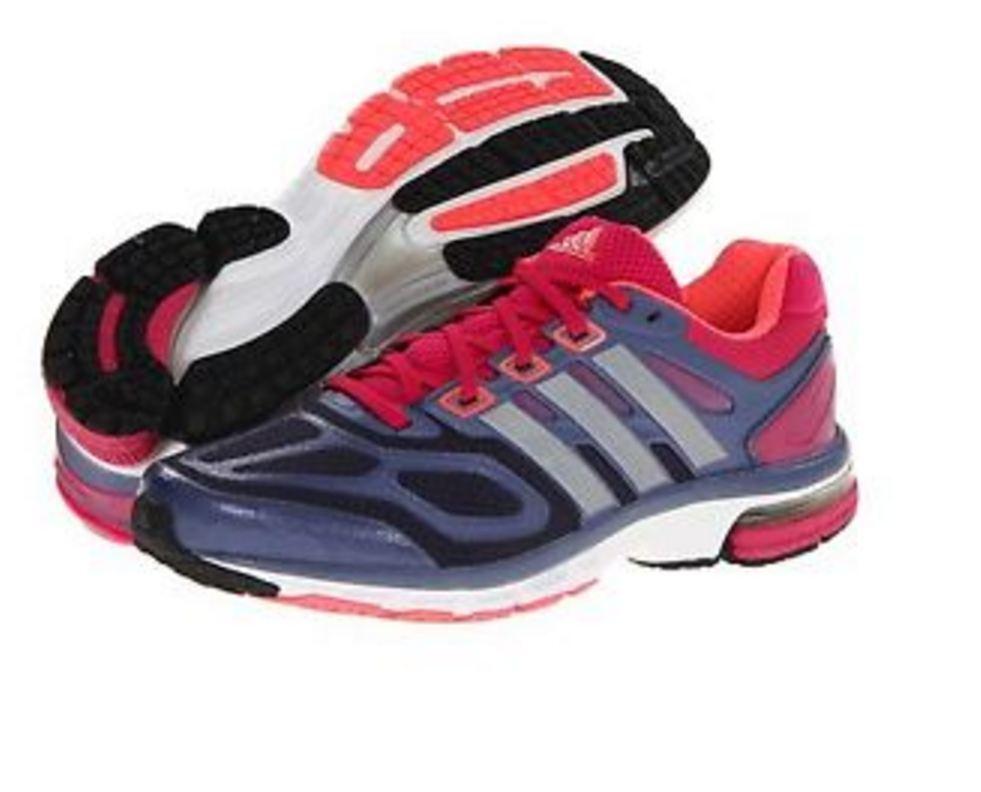 NWT Women's adidas Supernova Athletic Running Shoes Q21473 BlkPurpBurg