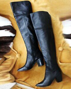 ALDO UK 5.5 38.5 WOMEN BLACK KNEE BOOTS