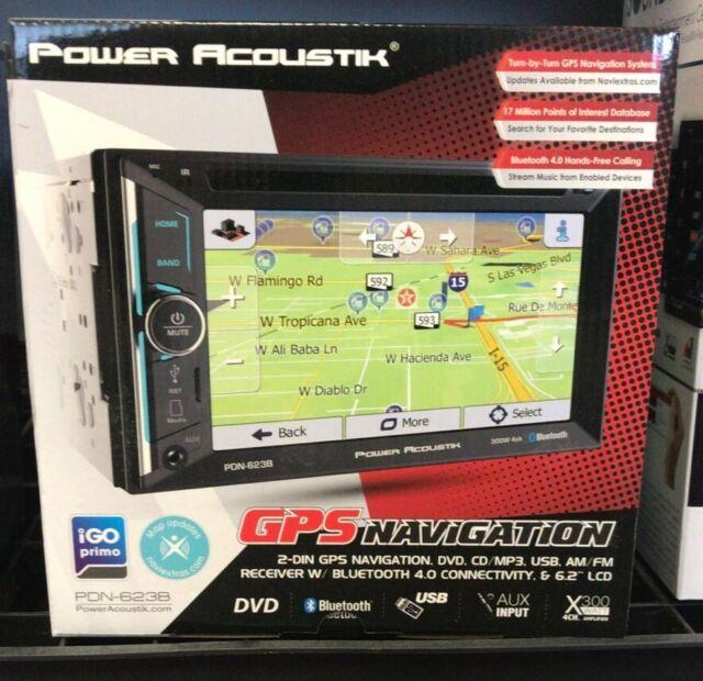 "NEW POWER ACOUSTIK 6.2/"" GPS NAVIGATION BLUETOOTH STEREO RADIO AUX//USB W DASH KIT"