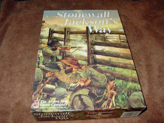Avalon Hill 1992  Stonewall Jackson's Way-warJuego (70+% ENLOMADOR) Nr. como Nuevo