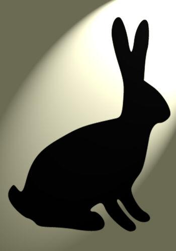 des 2 Shabby Chic Stencil Hare Rabbit Vintage A4 297x210mm wall art Furniture