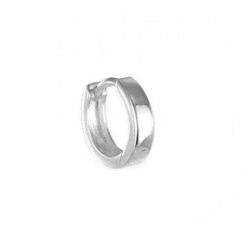 Silber Creole  Single-Klappcreole Ohrring 11,5 mm x 3 mm Silber 925 hochglanz