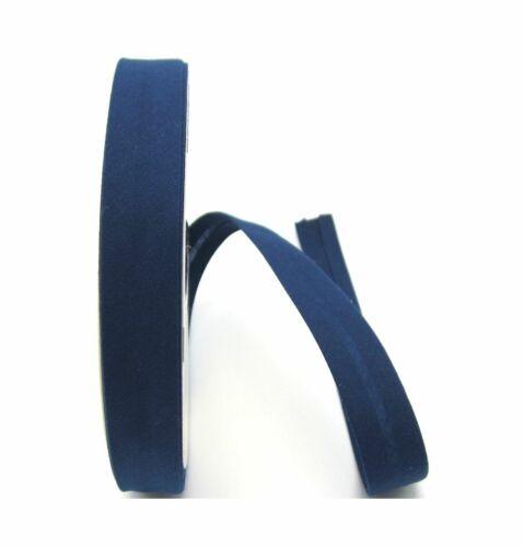 ruolo con 25 metri Nastro oblique 18mm Blu Turchese vorgefalzt spigoli cucire nastro