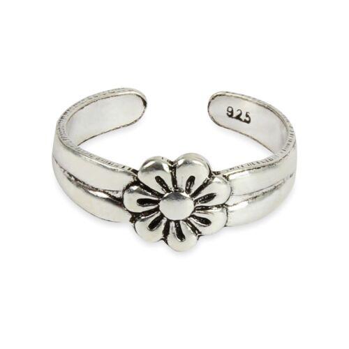Mit Neu 4er Set Sterlingsilber Zeh Ringe inklusive ❤️ Schlicht 5cz Blume