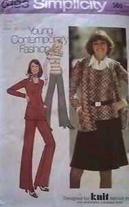 "** Vintage Sewing Pattern ** Femmes Pull, Mini Jupe Et Pantalon & Veste **-s Pullover, Mini Skirt & Trousers & Jacket**"" Data-mtsrclang=""fr-fr"" Href=""#"" Onclick=""return False;"">afficher Le Titre D'origine"