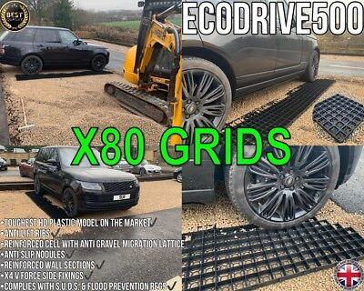 DRIVEWAY GRIDS 10 SQM =40 GRAVEL GRIDS PERMEABLE DRAINAGE SLABS PLASTIC PAVING s