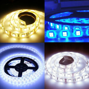1M-2M-3M-5M-3528-Led-Strip-Lights-Stick-on-Roll-Waterproof-Flexible-12Volt-Party