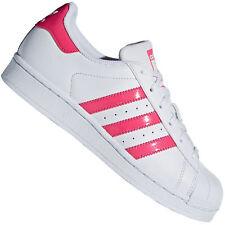 3bd1e3b4fba55 Adidas Originals Superstar J Damen-Turnschuhe Baskets Enfants Blanc Rose