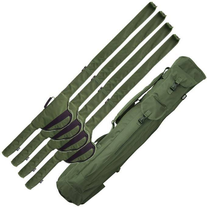 ROD HOLDALL QUIVER & ROD SLEEVES HOLDS BIG PIT REELS CARP FISHING NGT