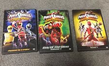 Power Rangers Ninja Storm and Dino Thunder DVD's