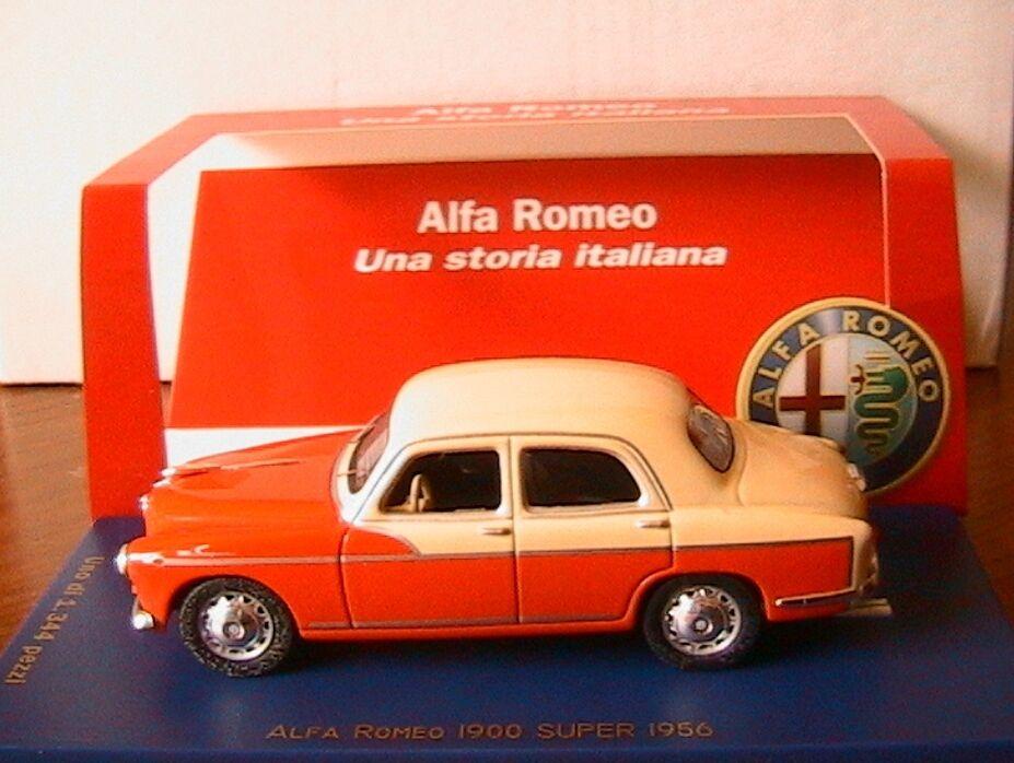 ALFA ROMEO 1900 SUPER 1956 Orange & CREME M4  7075 1 43 EDITION LIMITEE 1344 PCS