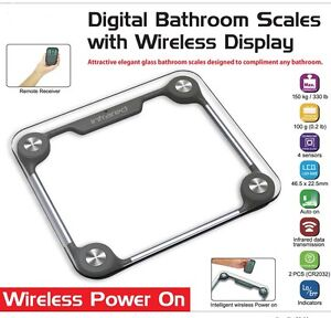Image Is Loading New Digital Bathroom Scales With Wireless Display