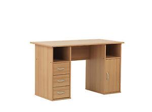 Alphason-Maryland-Beech-Effect-Computer-Desk-Workstation-Home-Small-Office