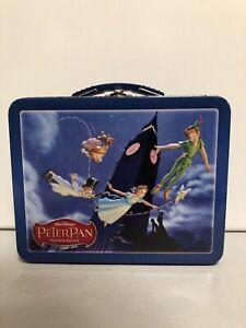 2003 Disney Best Buy Metal Tin PETER PAN LUNCHBOX Wendy Tinker Bell Captain Hook