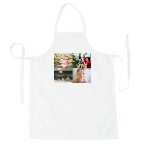 Personalised Custom Printed Apron 4 Photos Cooking PHOTO Chef Images