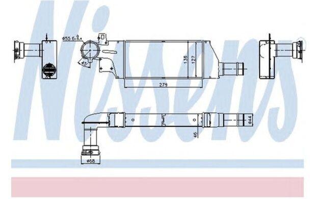 NISSENS Radiador de aire admisión OPEL CORSA VAUXHALL CORSAVAN TIGRA 96656