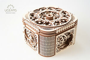 Details About Ugears Treasure Box 3d Wooden Puzzle Self Assembling Mechanical Model For Teens