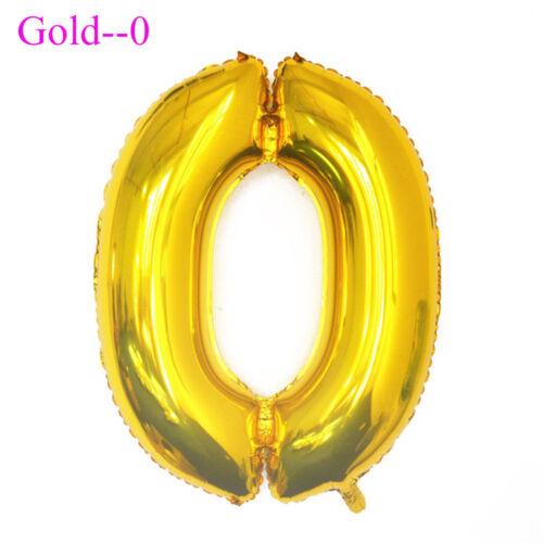 Lettre /& Numéro Ballons Anniversaire Mariage Fête Décoration Or Argent 40 in environ 101.60 cm