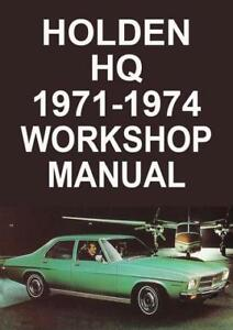 holden hq manual