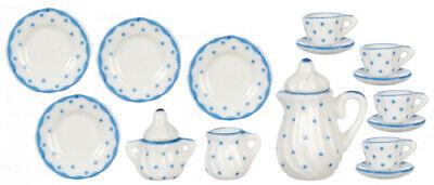 Blue Dot Tea Set, Casa Delle Bambole Miniatura Accessorio Sala Da Pranzo, Cucina- Estremamente Efficiente Nel Preservare Il Calore