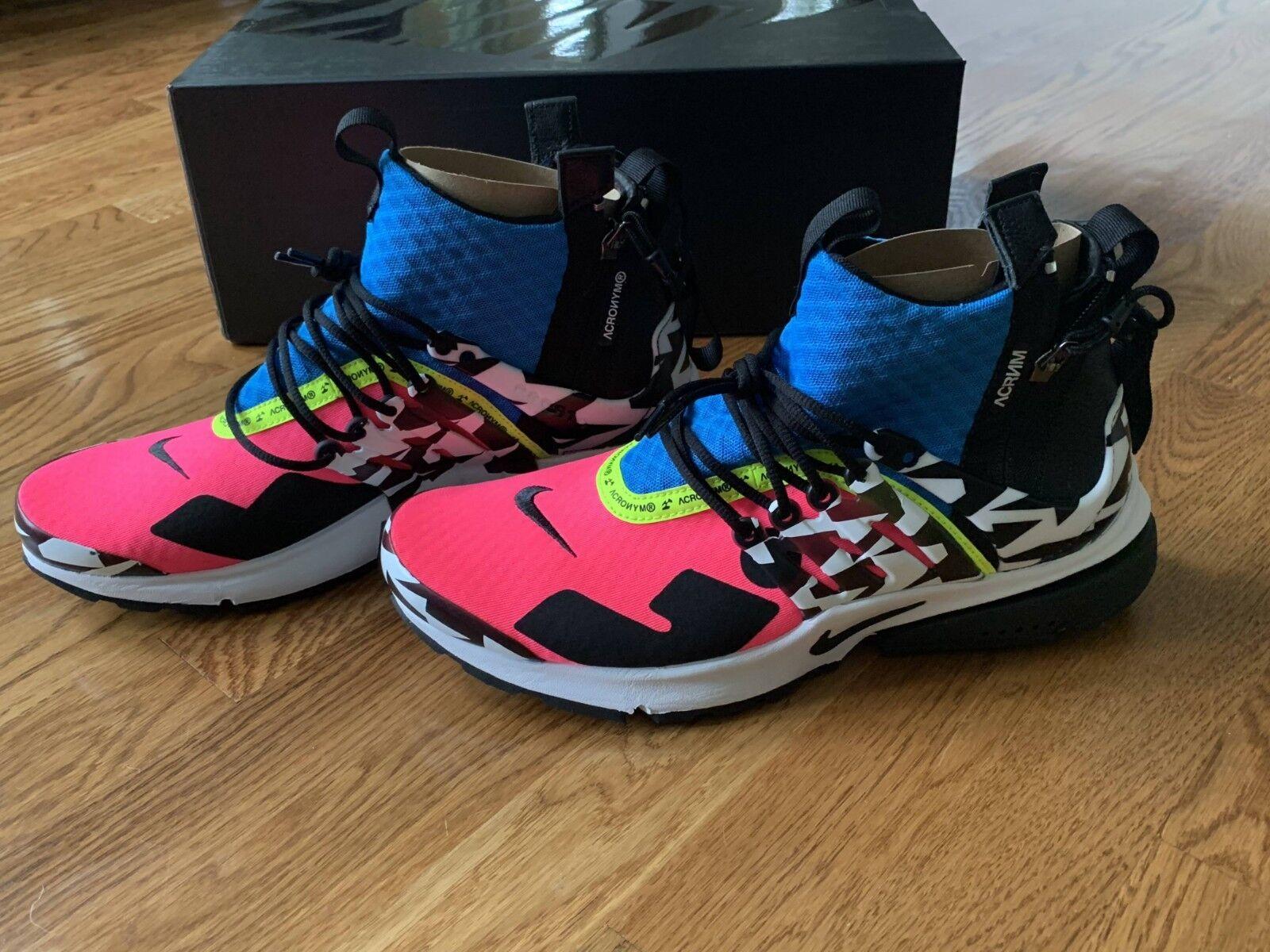 Nike Akronym Presto Presto Presto Luft Mittelgroße Us 10 UK 9, Eu 44, cm 2 Racer Rosa  b11d00