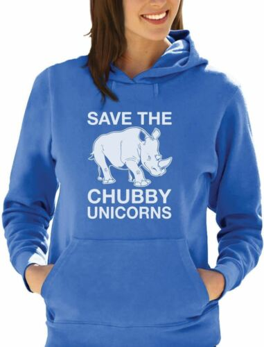 Save the Chubby Unicorns Rhino Hipster Women Hoodie Funny