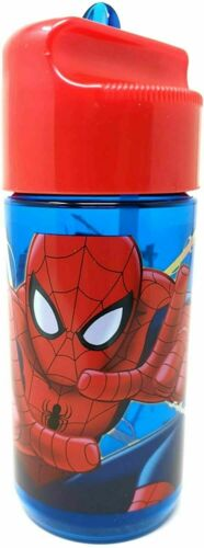 Kinder Tritan Trinkflasche Wasserflasche wählbar Frozen Spiderman BPA-frei aus