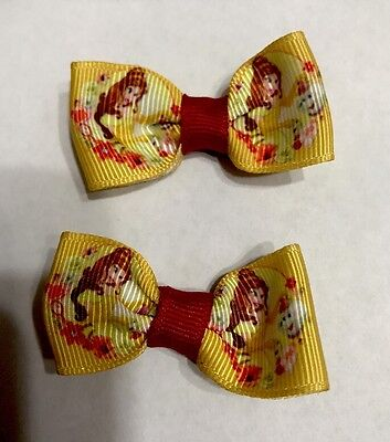 """New Lot Of 2 Belle 2"""" Beauty And The Beast"""" Hairbow machine Washable Dynamic"""