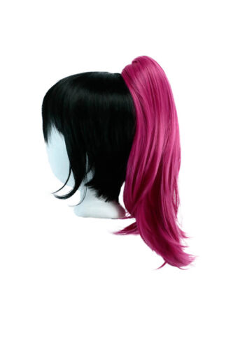16/'/' Straight Pony Tail Claw Clip Wig Accessory Deep Pink Clip Only NEW