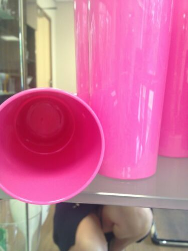 PINK 12oz Stacking Hiball PACK 24 ALMOST PERFECT SECONDS COL VARY UNBREAKABLE