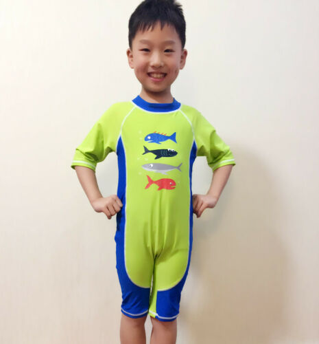 Boys Kids Sun Safe Swimsuits Swimming Beach Costume Sunsuit Kids Swimwear UV 50