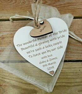Mother Of The Bride Groom Personalised Wedding Gift Favour Poem