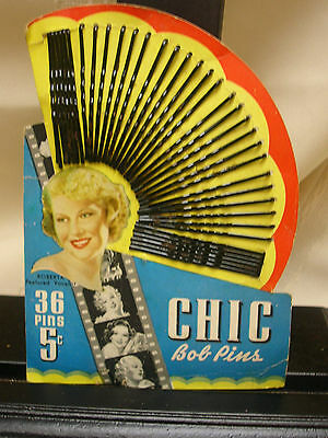 Vintage c1930s Chic Bob Bobby Pins Roberta Featured Vocalist Hair Finger Curls